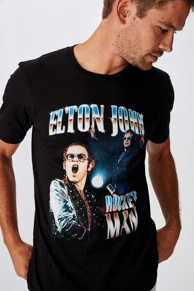 Tbar Collab Elton John T-Shirt, LCN BRA BLACK/ELTON JOHN - ROCKET MAN