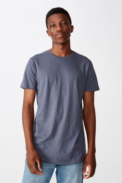 Essential Longline Scoop T-Shirt, DUSTY DENIM