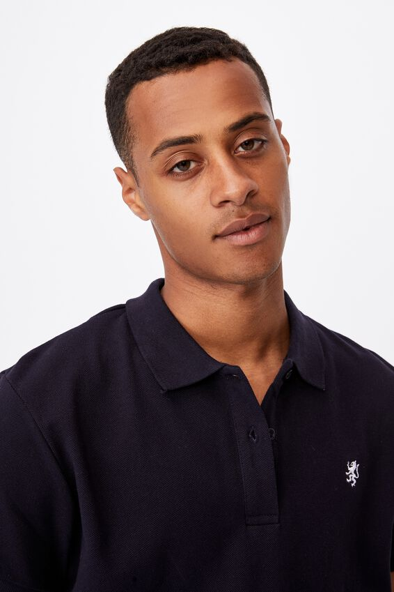 Essential Short Sleeve Polo, NAVY
