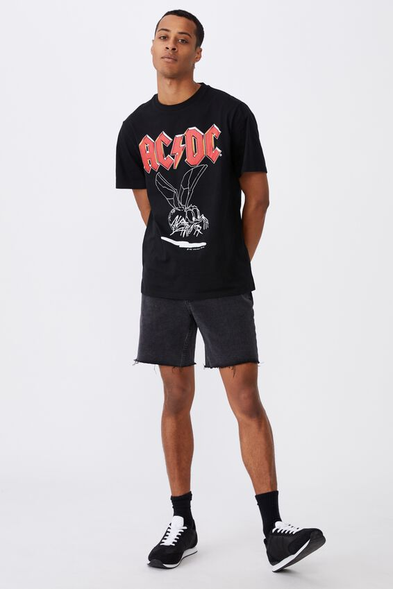 Tbar Collab Music T-Shirt, LCN PER BLACK/ACDC - FLY ON THE WALL