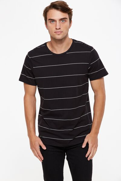 Tbar Premium Crew, BLACK BLOCK STRIPE/WHITE MICRO STRIPE
