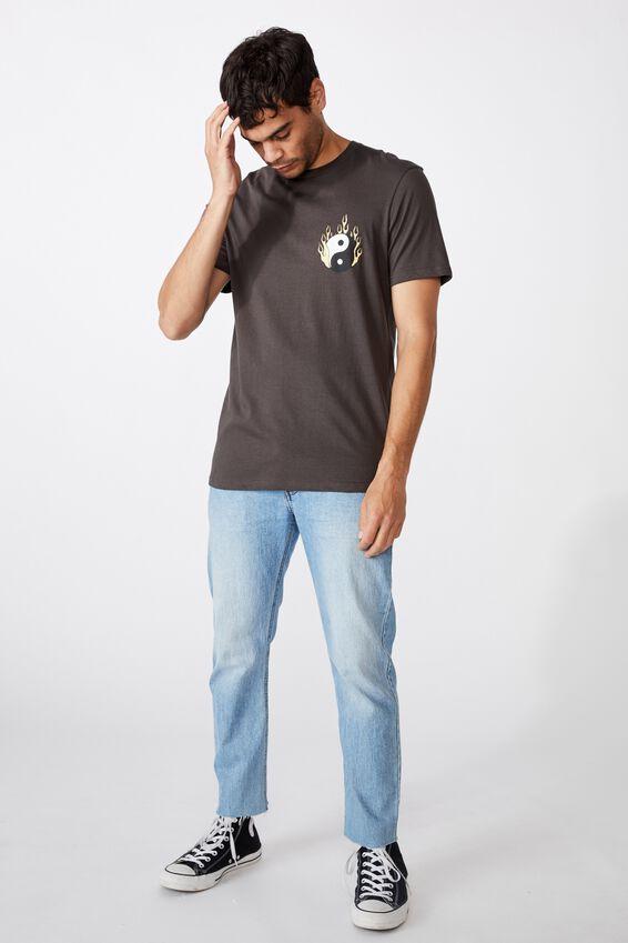 Tbar Art T-Shirt, FADED SLATE/FLAMING YING YANG