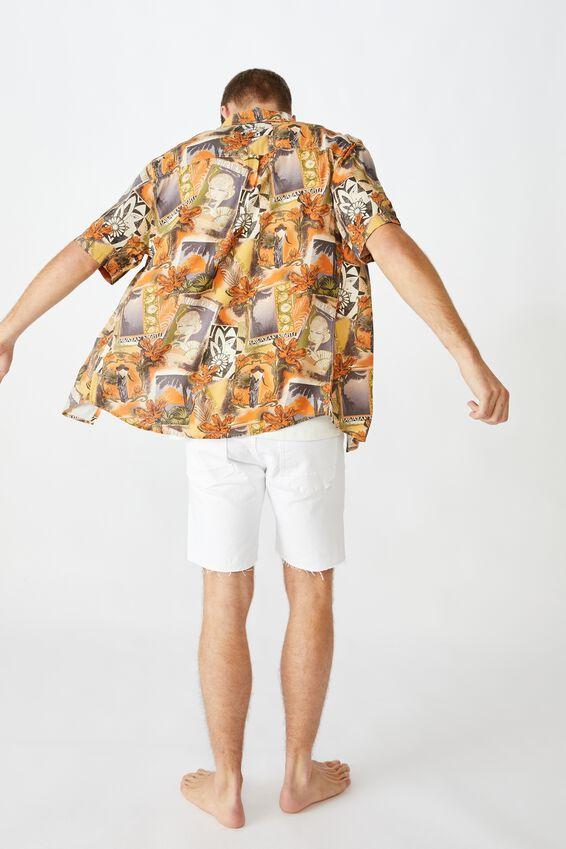 Vacation Short Sleeve Shirt, BLUE TROPICS