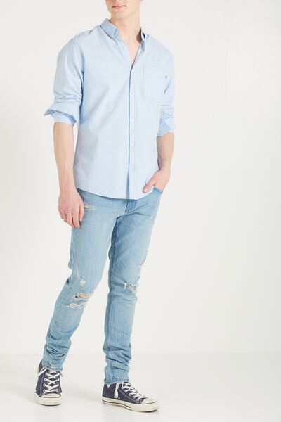 Slim Fit Jean, SALT BLUE WITH RIPS