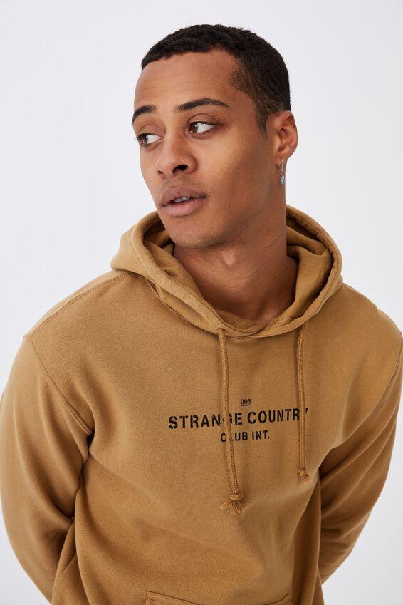 Fleece Pullover 2, CAMEL/STRANGE COUNTRY