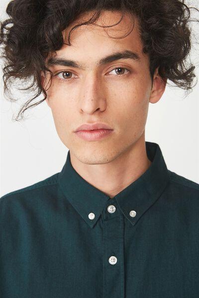 Vintage Prep Short Sleeve Shirt, BOTTLE GREEN