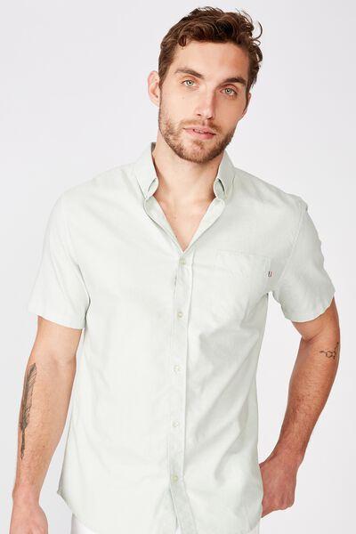 Vintage Prep Short Sleeve Shirt, JADE