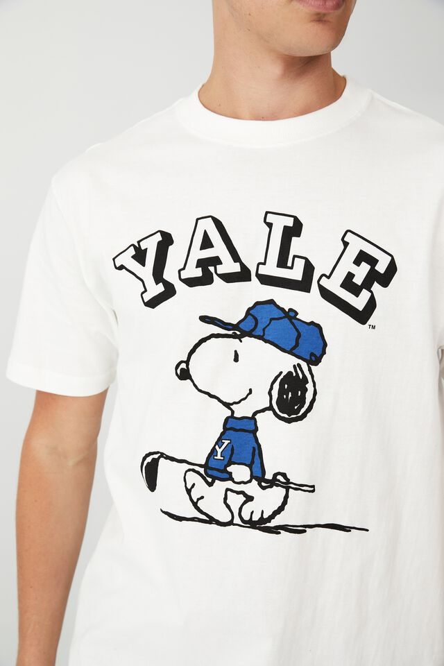 Special Edition T-Shirt, LCN YAP VINTAGE WHITE/YALE SNOOPY - GOLF