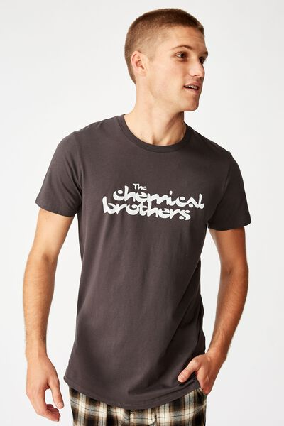 Scooped Lounge Tee, LCN SB FADED SLATE/THE CHEMICAL BROTHERS