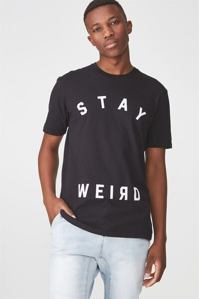 Tbar Tee 2, BLACK/STAY WEIRD