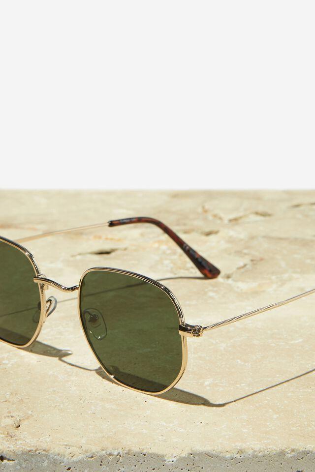 Apollo Polarized Sunglasses, GOLD/TORT/GREEN