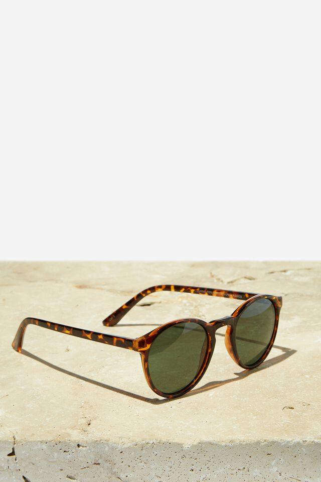Lorne Polarized Sunglasses, TORT/GREEN