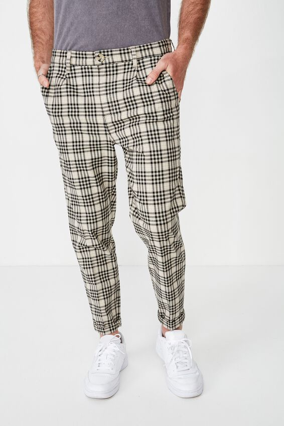 Oxford Trouser, BEIGE CHECK
