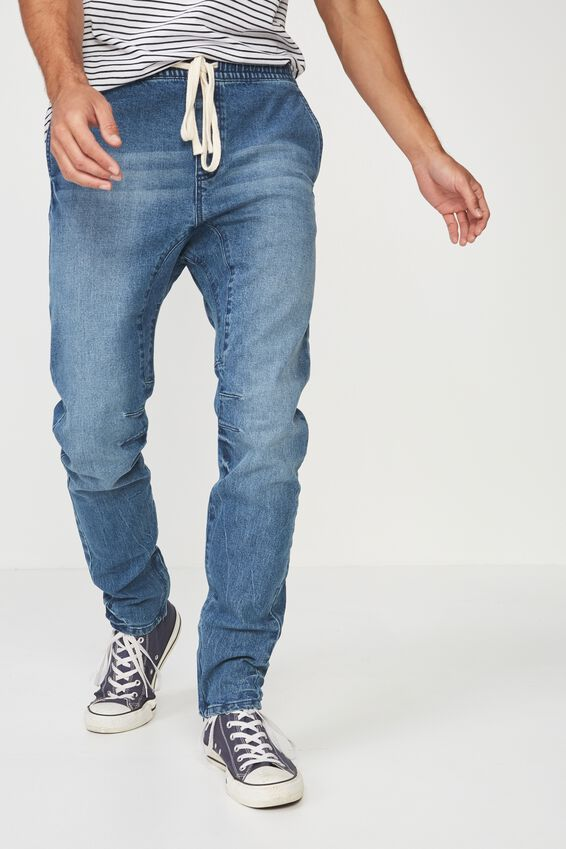 Slim Urban Zip Jean, COASTER BLUE