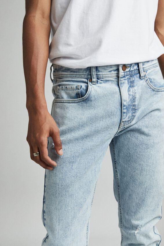 Slim Fit Jean, ROADKNIGHT BLUE RIPS