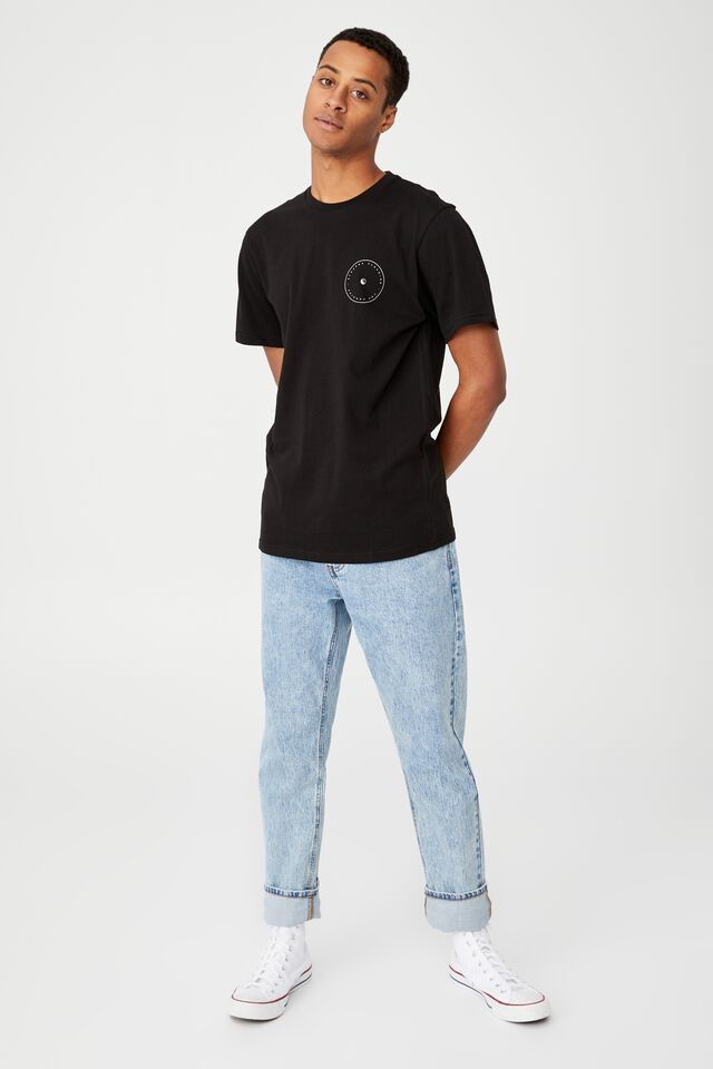 Tbar Street T-Shirt, BLACK/YIN YANG PARADISE