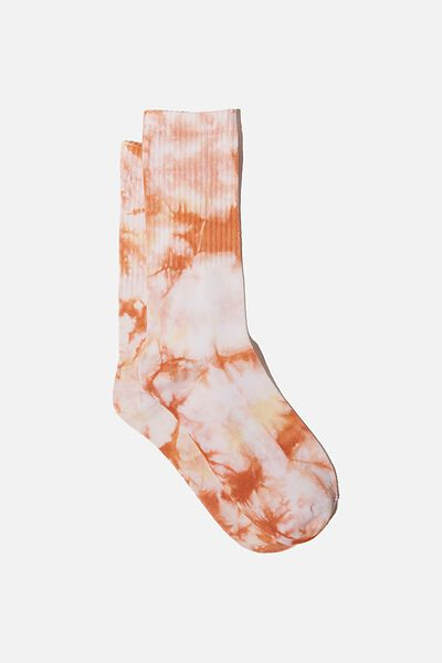 Special Edition Active Sock, RED/CAMEL/TIE DYE