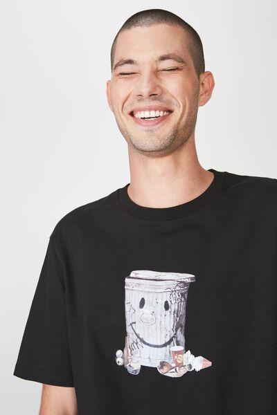 Tbar Art T-Shirt, BLACK/TRASHED