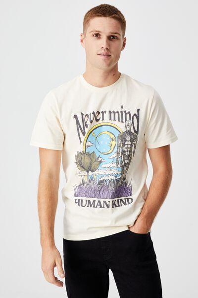 Tbar Art T-Shirt, CREAM PUFF/NEVERMIND HUMAN KIND
