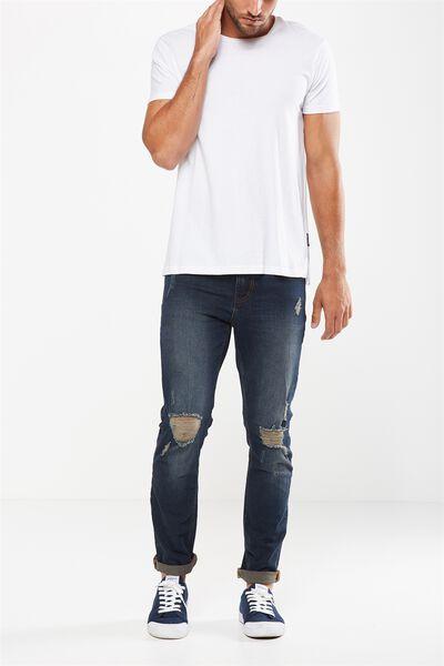 Slim Fit Jean, BROOKLYN BLUE + RIPS