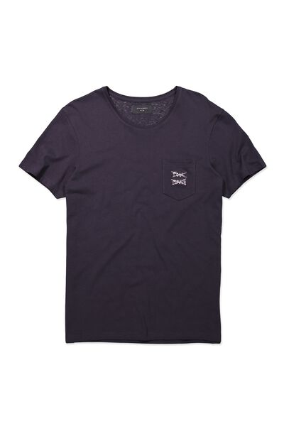 Icon Tee, INK NAVY/FOUL MOUTH