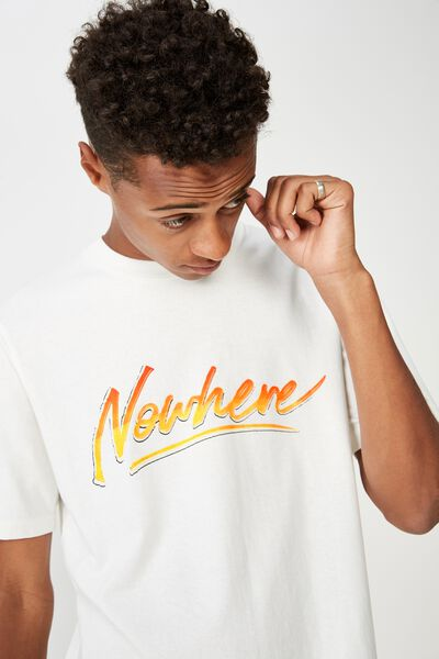 Street T-Shirt, VINTAGE WHITE/NOWHERE 80S