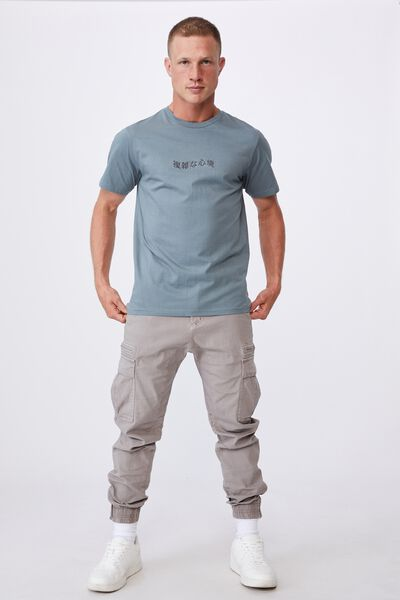 Tbar Text T-Shirt, SMOKEY TEAL/COMPLICATED FEELINGS