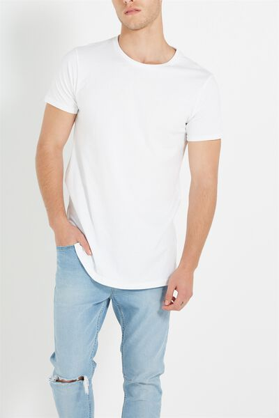 Essential Longline, WHITE
