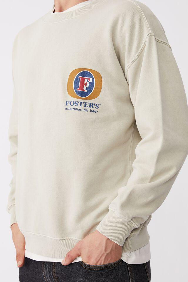 Fosters Crew Fleece, LCN CUB IVORY/FOSTERS CHEST LOGO