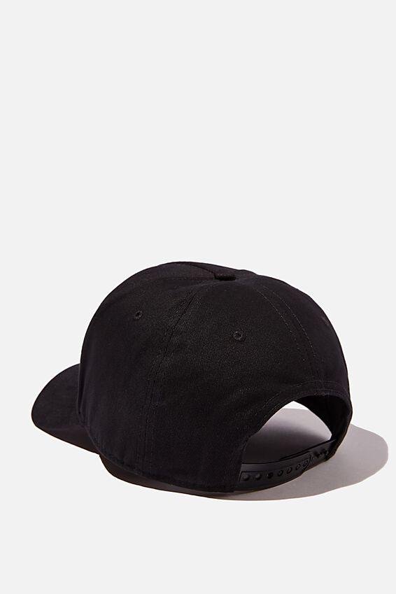 Curved Peak Snapback, BLACK/BLACK/LA
