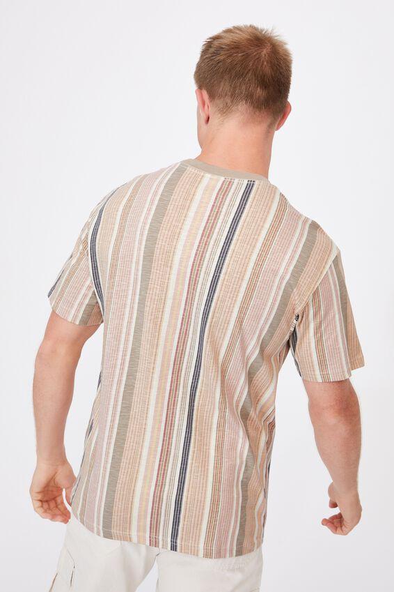 Downtown T-Shirt, NATURAL MADRAS STRIPE