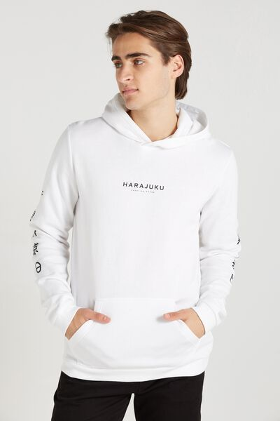 Fleece Pullover 2, WHITE/HARAJUKU