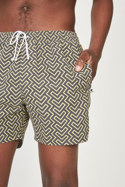 Swim Short, GREY/STONE GEO