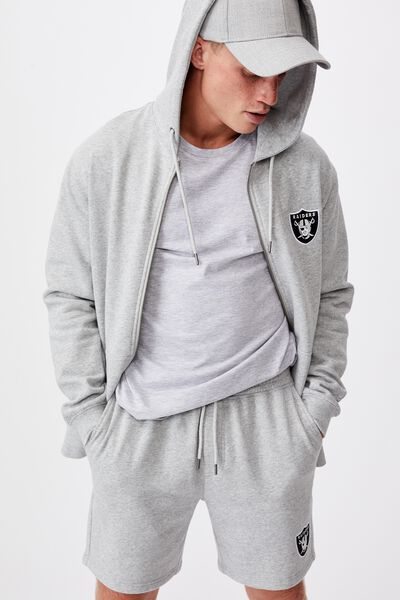 Active Nfl Fleece Short, LCN NFL LIGHT GREY MARLE/RAIDERS