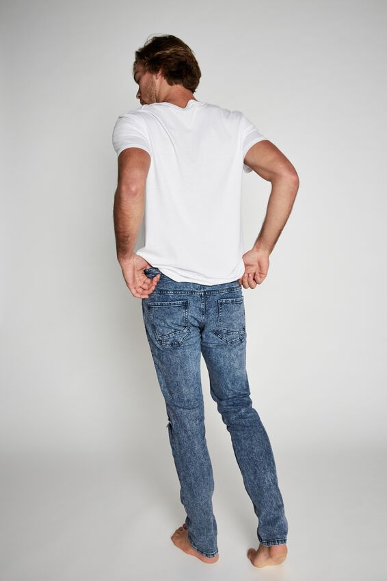 Slim Fit Jean, GRUNGE BLUE + RIPS