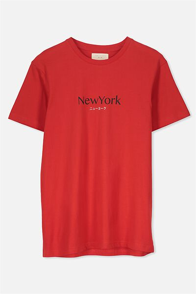Tbar Tee 2, SPORT RED/NEW YORK TRANSLATE