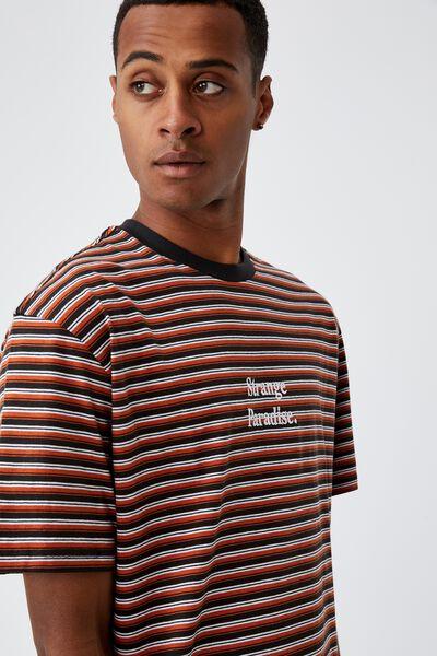 Dylan T-Shirt, TERRACOTTA MICRO STRIPE