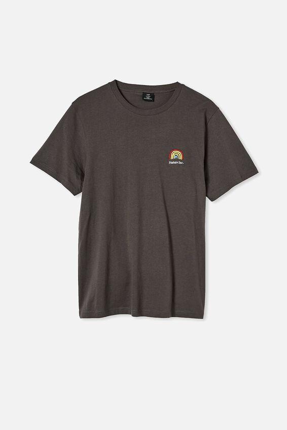 Tbar Art T-Shirt, FADED SLATE/NATURE INC