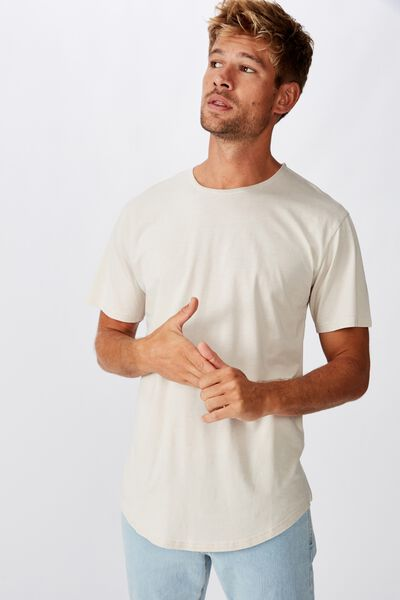Longline Scoop Burnout T-Shirt, SMOKE