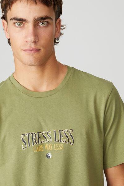 Tbar Moto T-Shirt, GRASS GREEN/STRESS LESS