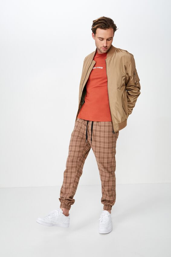 Drake Cuffed Pant, OXFORD BROWN CHECK