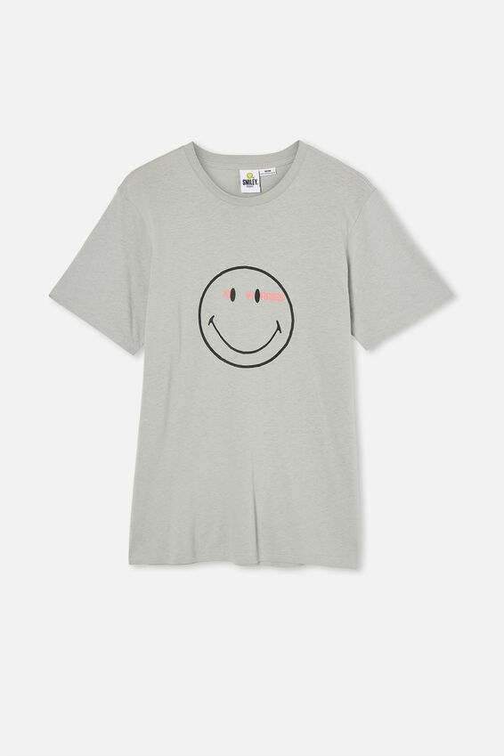 Tbar Collab Pop Culture T-Shirt, LCN SMI BLUE HAZE/SMILEY-NO WORRIES