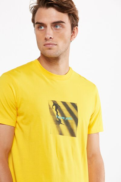 Tbar Tee 2, SAFTEY YELLOW/SKATE FUTURE YUTH