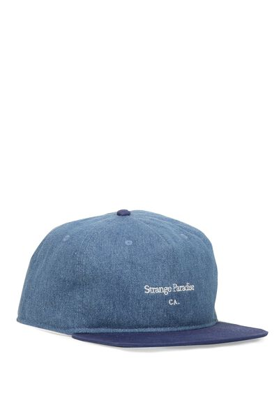 So-Cal Slouch Cap, STRANGE PARADISE/NAVY DENIM