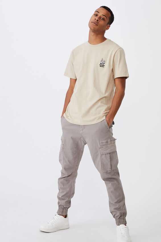 Tbar Art T-Shirt, CLAY STONE/NOODLE BRAIN