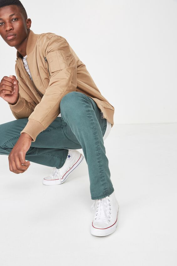 Slim Fit Jean, DUST GREEN