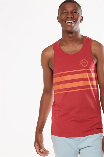 Tbar Anchor Tank, RACE RED/NEUE LAB