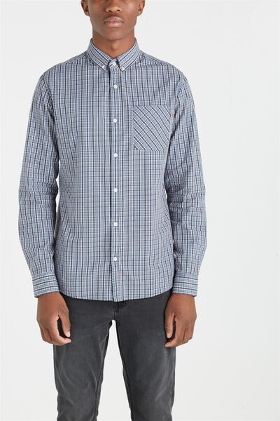 Brunswick Shirt 3, BLUE WOODS CHECK