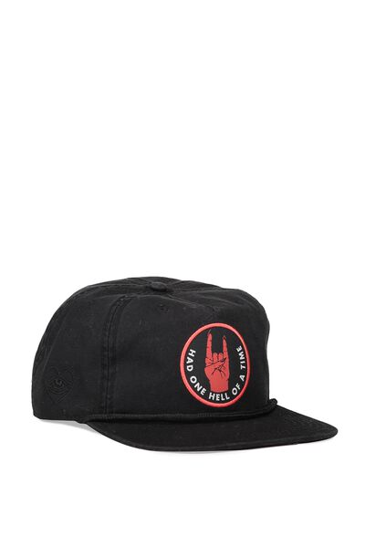 So-Cal Slouch Cap, HELL OF A TIME/WASHED BLACK
