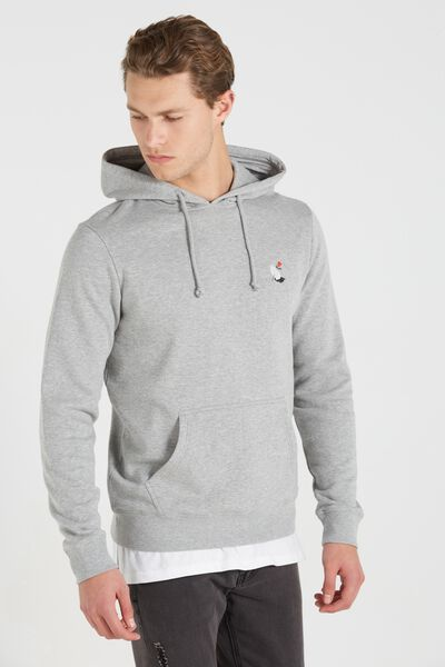 Fleece Pullover 2, GREY MARLE/WING AND A PRAYER